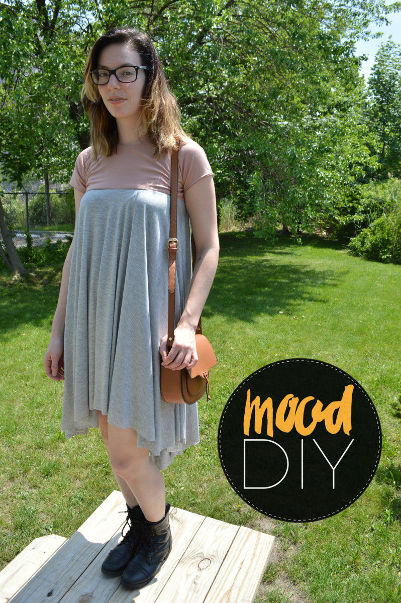 This knit dress is fun, cute, and totally practical for everyday wear! The best part? You can make this pattern with one of your own t-shirts!