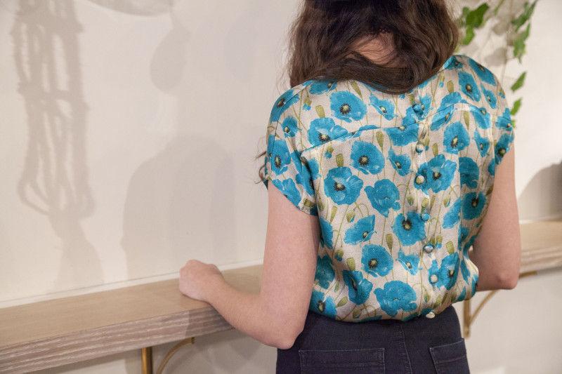 Patron de couture libre pour blouse boutonnée au dos