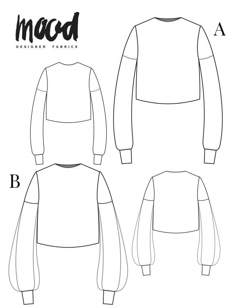 The Bixa Sweatshirt Free Sewing Pattern Mood Sewciety