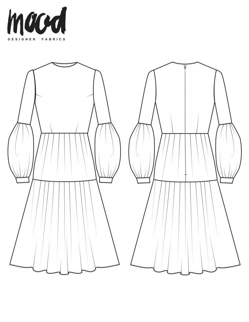 The Zenobia Dress - Free Sewing Pattern - Mood Sewciety