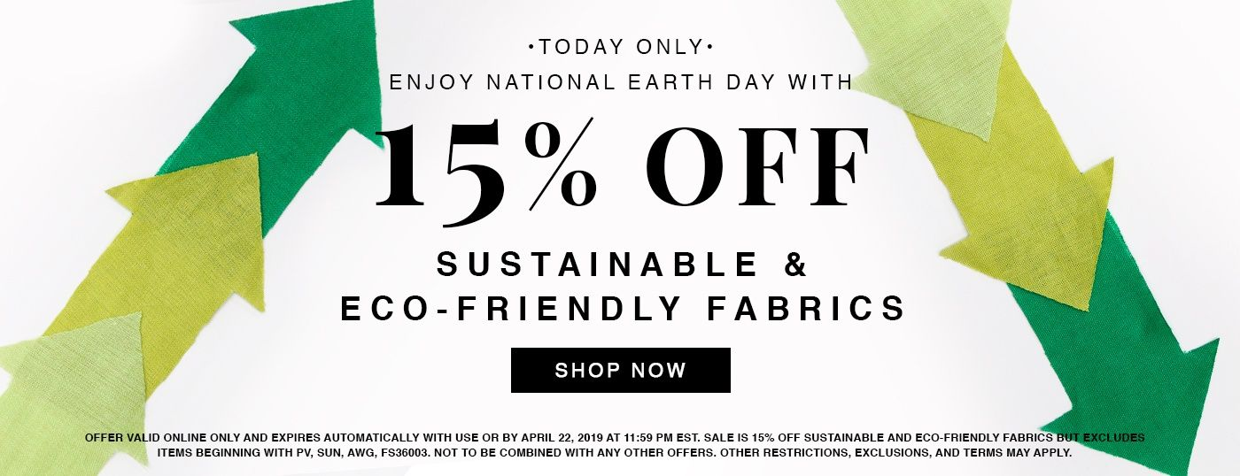Enjoy 15% off Sustainable and Eco-friendly in honor of Earth Day!