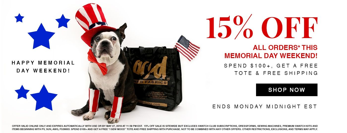 Shop our Memorial Day Promo! Spend $100 and Get a Free Tote!
