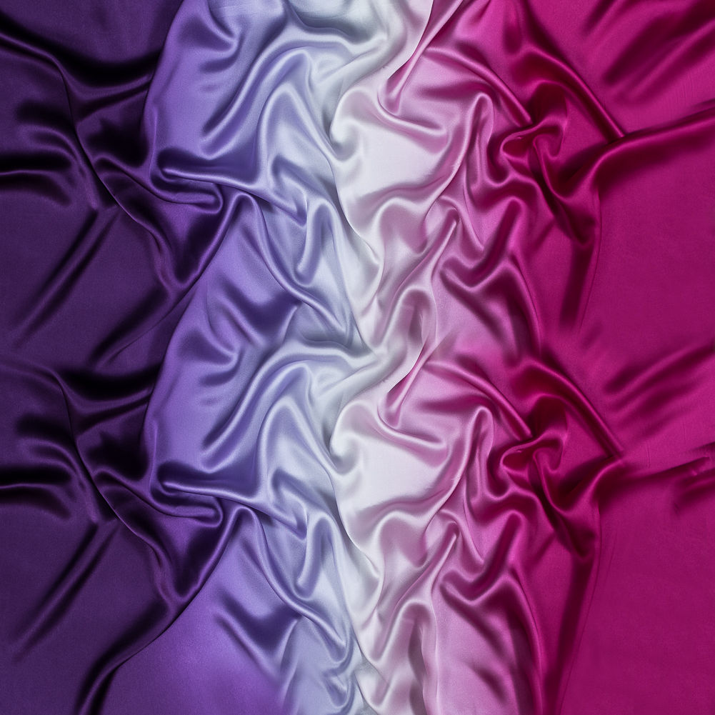 Purple Ikat Ombre Chevrons Weekender Bag