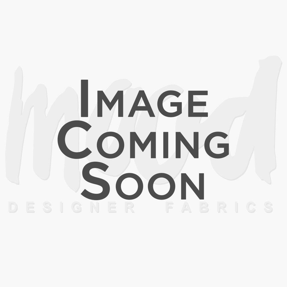 Oscar de la Renta Brown Herringbone Printed Silk Chiffon