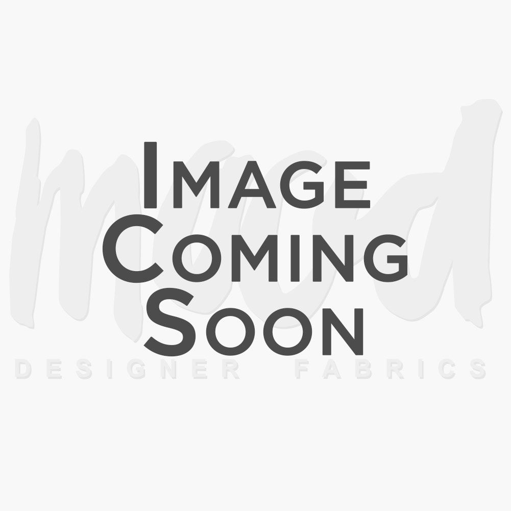 Black Striped Wool Knit and Black Solid Organza Bonded with Floral Design-321325-10