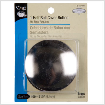 Dritz Size 100-2 1/2 Half Ball Covered Buttons