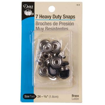 Brass/Black Heavy Duty Snaps