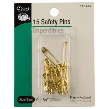 Size 0-7/8 Dritz Safety Pins