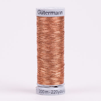 36 Copper 200m Gutermann Metallic Thread