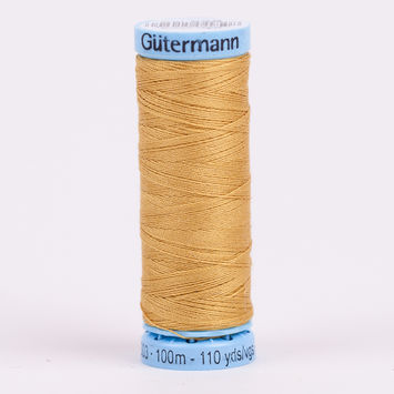 968 Antique Gold 100m Gutermann Silk Thread