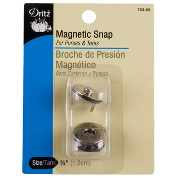 Dritz Size 3/4 Silver Magnetic Snaps