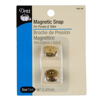 Dritz Size 1/2 Gold Magnetic Snaps