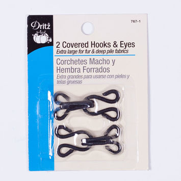 Dritz 2 Covered Hook & Eyes