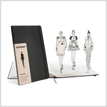 Dark Gray Large Fashionary Women's Sketchbook