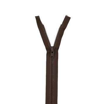 "Brown YKK Chain Separating Zipper 36""-102181-10"