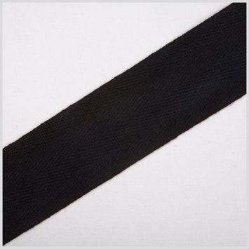 1 1/2 Black Cotton Twill Tape