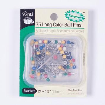 Dritz 75 Long Color Ball Pins
