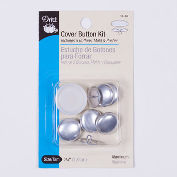 Dritz Cover Button Kit 3/4 Al