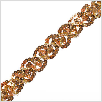 0.5 Gold Braided Sequin Trim