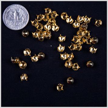 1/4 Gold Spike Nailheads