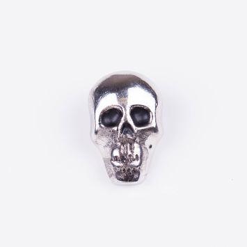 1 Silver Nickle Skull Stud