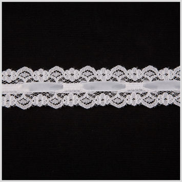 1 White Raschel Lace
