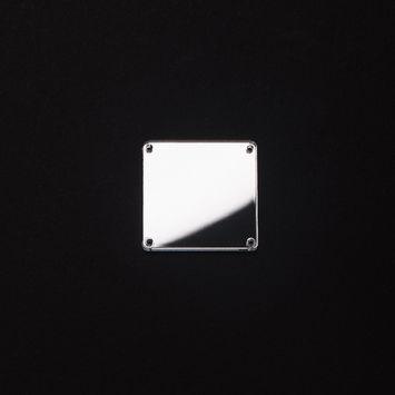 Silver Laminate 4-Hole Square Plastic Mirror - 40L/25mm