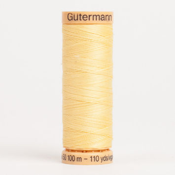 1410 Light Yellow 100m Gutermann Cotton Thread