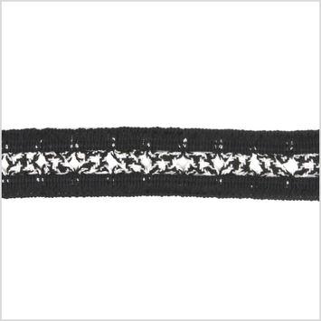 1 Black/White Braided Trim