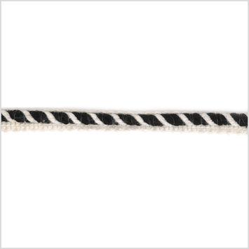 0.75 Black/Ivory Piping Cord Trim