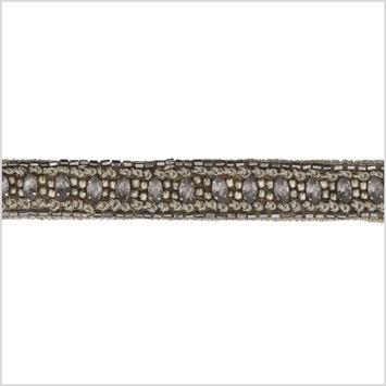 0.75 Gunmetal/Bronze Beaded Rhinestone Trim