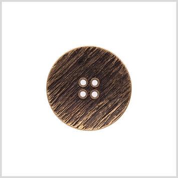Italian Gold Zamac Embossed Button - 48L/30.5mm