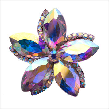 Italian Crystal Rhinestone Brooch