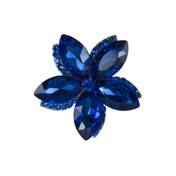 Italian Royal Blue Rhinestone Brooch