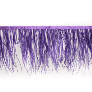 6 Single Ply Purple Ostrich Fringe