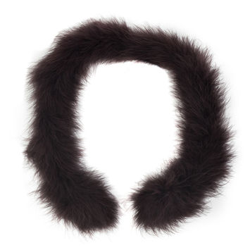 """Brown Marabou Feather Scarf 33""""-112327-10"""