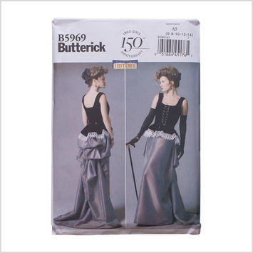 Butterick Misses' Corset and Skirt Pattern 5969 Size A5