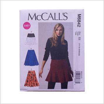 McCall Misses' Skirt Pattern 6842 Size E5
