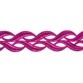 Metallic Pink Lace Trim - 2
