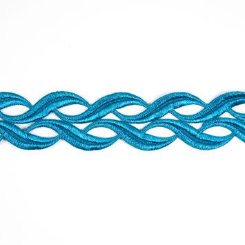 Metallic Blue Lace Trim - 2