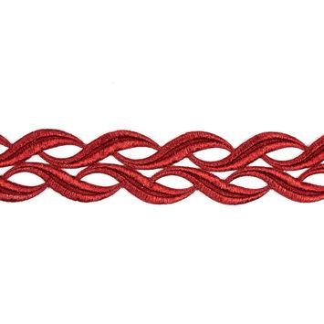 Metallic Red Lace Trim - 2