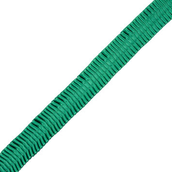 Italian Kelly Green Deep Knife Pleated Trimming - 1