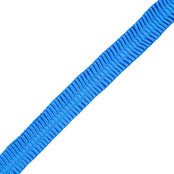 Italian Electric Blue Deep Knife Pleated Trimming - 1