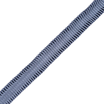 Italian Victorian Blue Deep Knife Pleated Trimming - 1