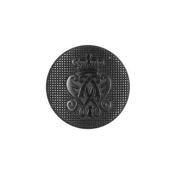 Black Italian Crest Zamac Button - 32L/21mm