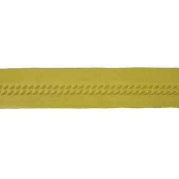 Italian Yellow Embossed Double Knit Trim - 1
