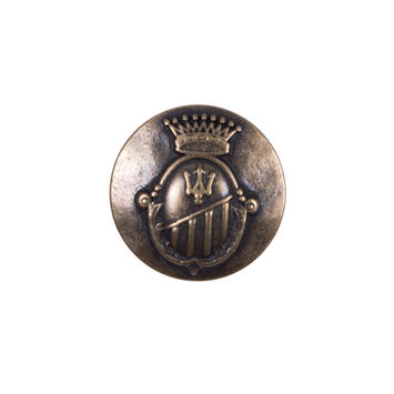 Italian Copper Zamac Button - 32L/21mm