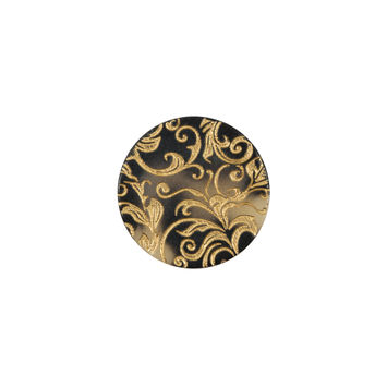 Italian Gold Etched Horn Button - 24L/15mm