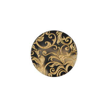 Italian Gold Etched Horn Button - 28L/18mm