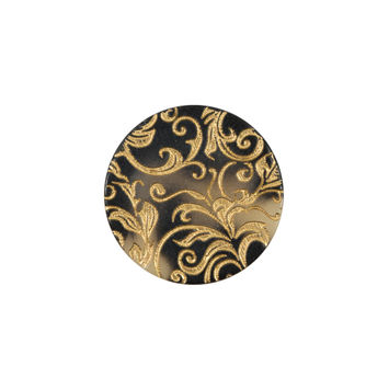 Italian Gold Etched Horn Button - 32L/20mm
